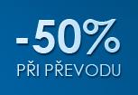 50% sleva při převodu